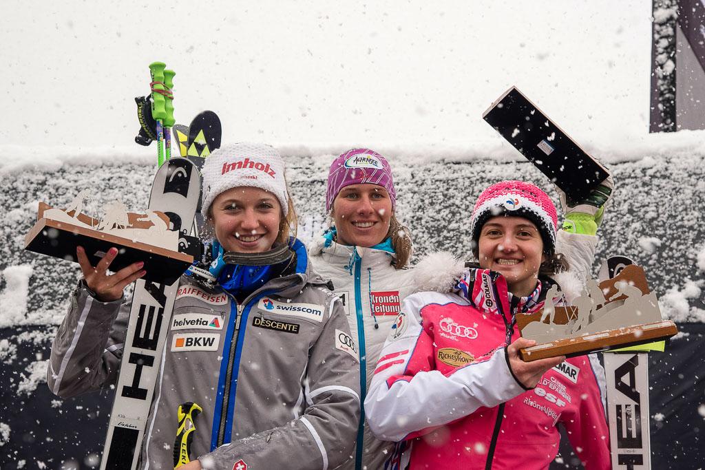 2015/16, European Cup, FIS, FRASSE SOMBET Coralie(FRA), GS, HAASER Ricarda(AUT), KASPER Vanessa  (SUI), La Molina (SPA), Season, Women