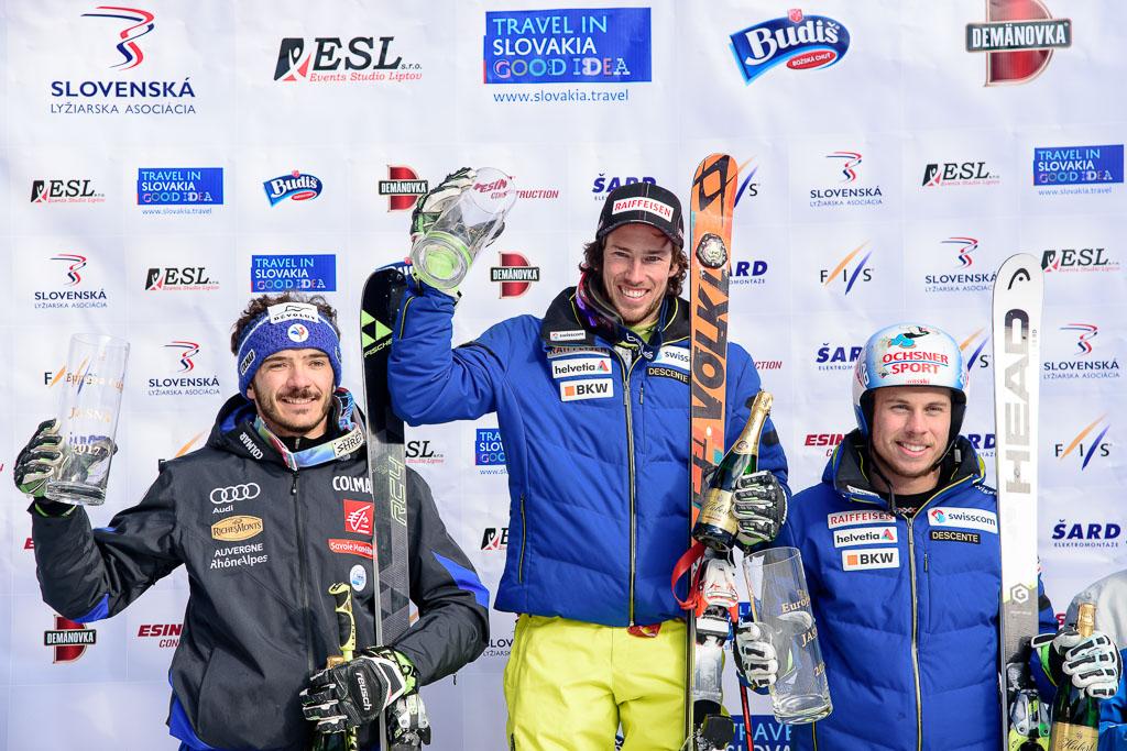2016/17, CAVIEZEL Gino(SUI), European Cup, FIS, GS, Jasna (SVK), Men, SARRAZIN Cyprien(FRA), Season, ZURBRIGGEN Elia (SUI)