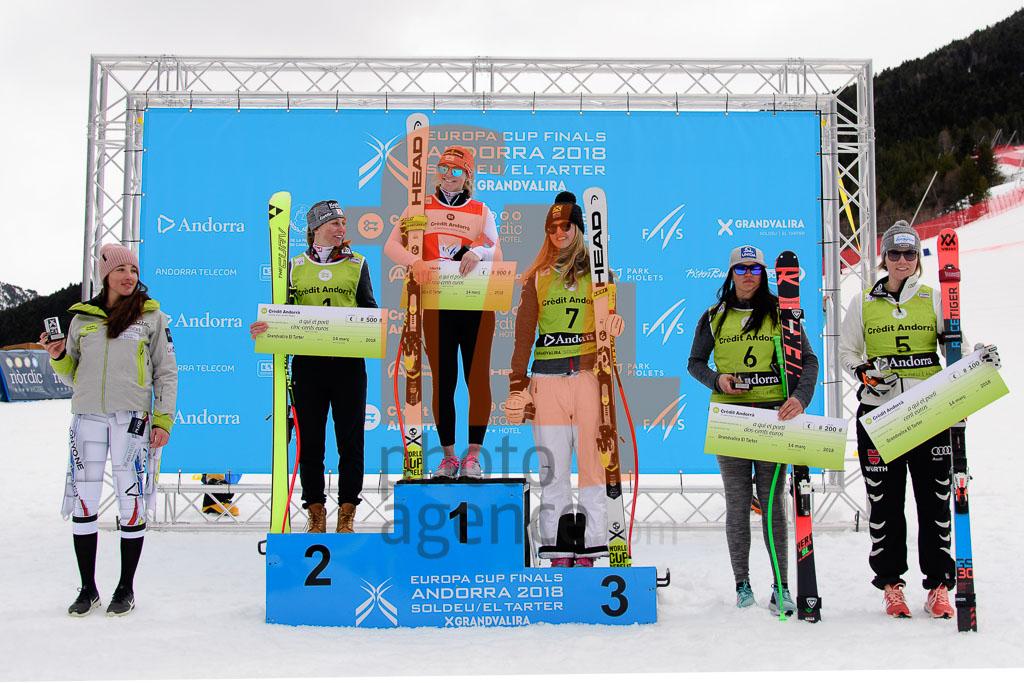 2017/18, DH, El Tarter (AND), European Cup, FIS, HEIDER Michaela  (AUT), MORENO BECERRA Cande  (AND), ORTLIEB Nina (AUT), RAEDLER Ariane  (AUT), Season, Soldeu (AND), Women