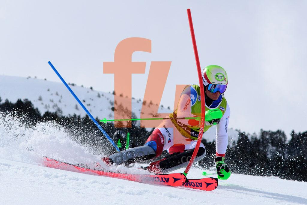 2017/18, BISSIG Semyel  (SUI), European Cup, FIS, Men, SL, Season, Soldeu (AND)