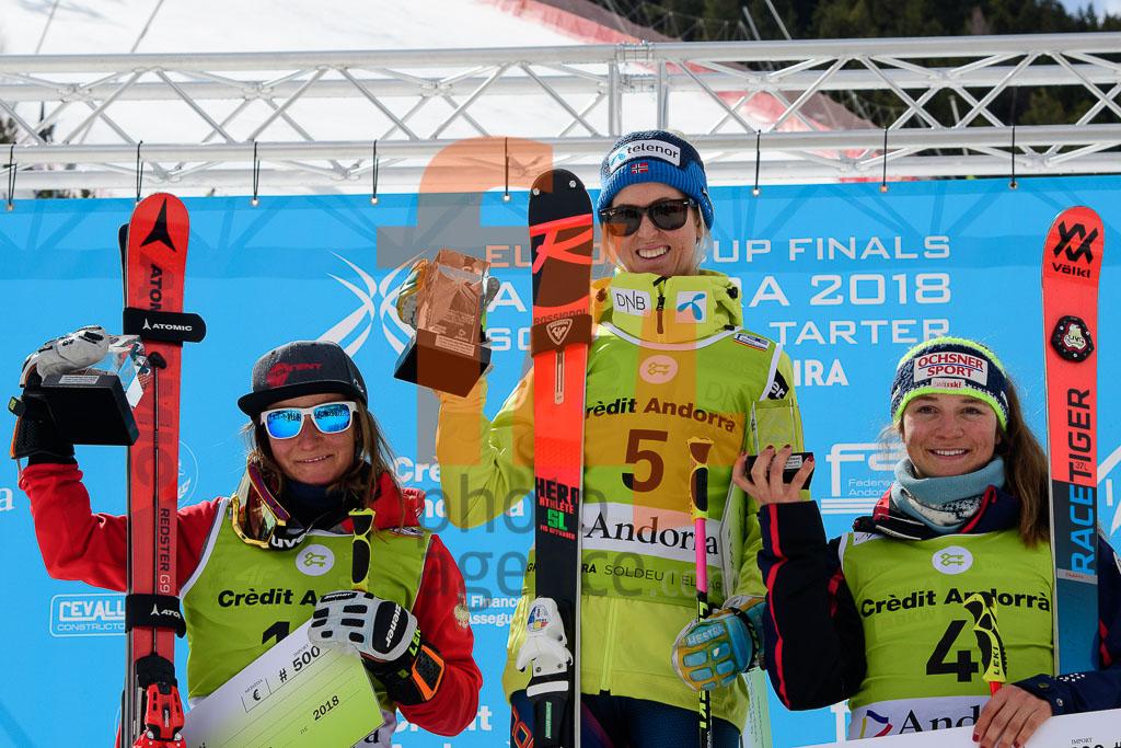 2017/18, European Cup, FIS, GASIENICA-DANIEL Maryna(POL), GS, HAUGEN Kristine Gjelsten(NOR), SUTER Jasmina (SUI), Season, Soldeu (AND), Women