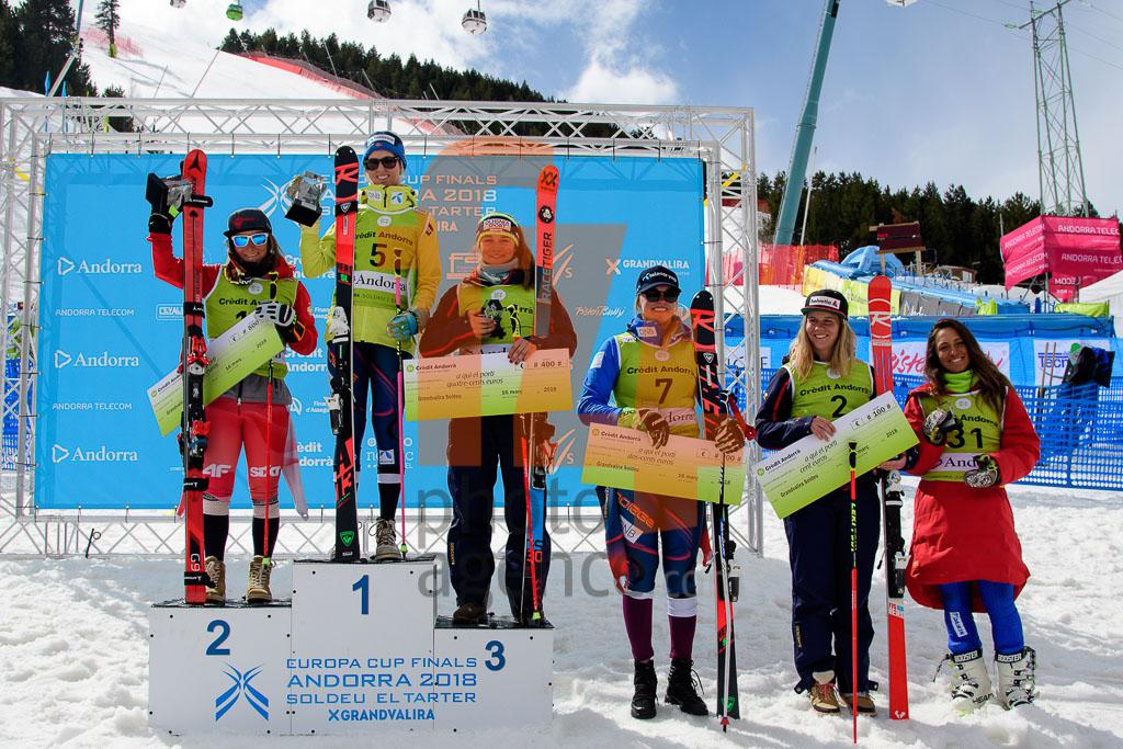 2017/18, European Cup, FIS, GASIENICA-DANIEL Maryna(POL), GS, HAUGEN Kristine Gjelsten(NOR), KOPP Rahel(SUI), RESCH Stephanie  (AUT), STJERNESUND Thea Louise(NOR), SUTER Jasmina (SUI), Season, Soldeu (AND), Women
