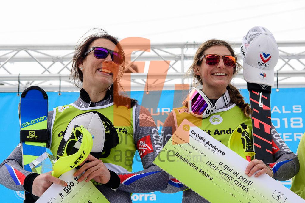 2017/18, European Cup, FIS, FORNI Josephine (FRA), NOENS Nastasia  (FRA), SL, Season, Soldeu (AND), Women