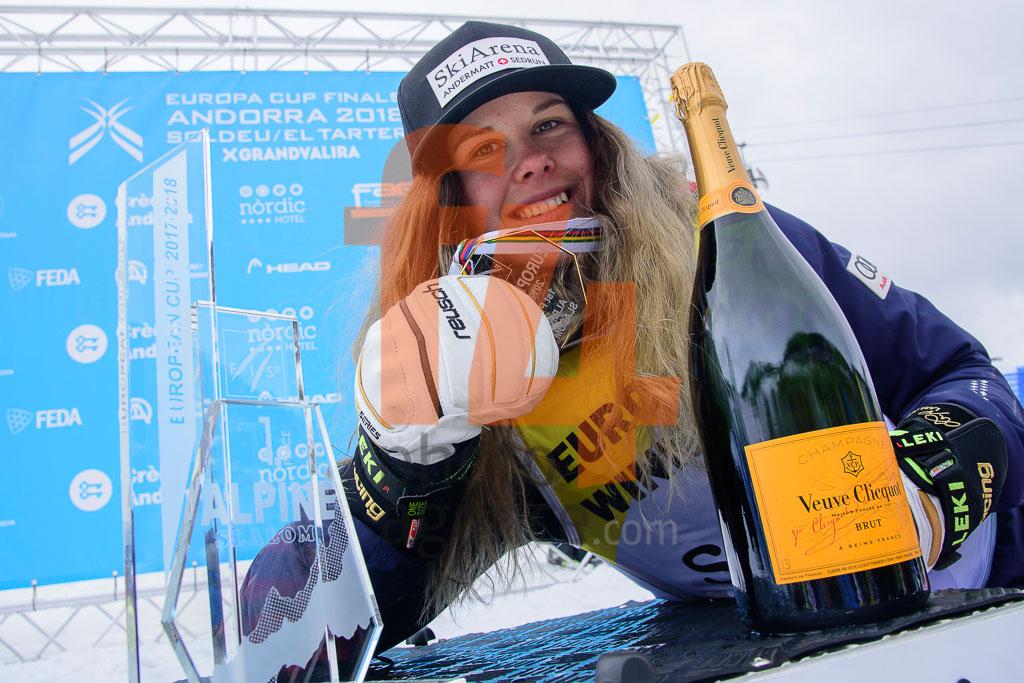 2017/18, DANIOTH Aline  (SUI), European Cup, FIS, SL, Season, Soldeu (AND), Women