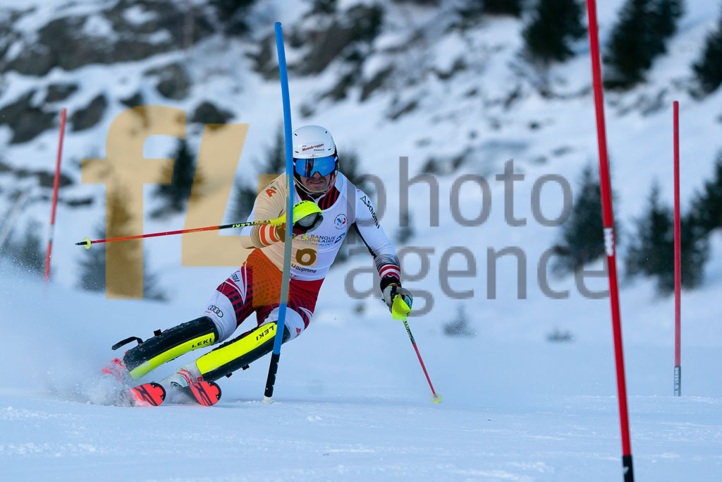 2019/20, European Cup, FIS, GRAF Mathias (AUT), Men, SL, Season, Vaujany (FRA)